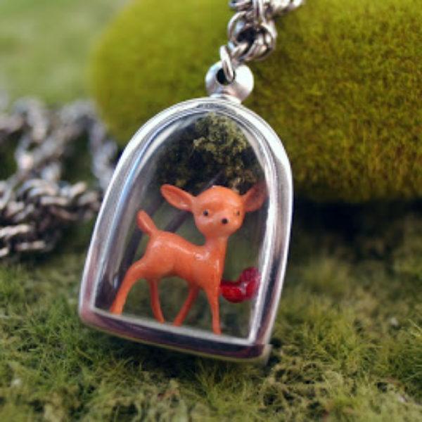 I Love You Deer Locket Necklace | Hi Octane Jewelry
