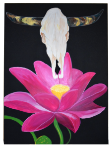 Lotus-SteerSkull-Painting