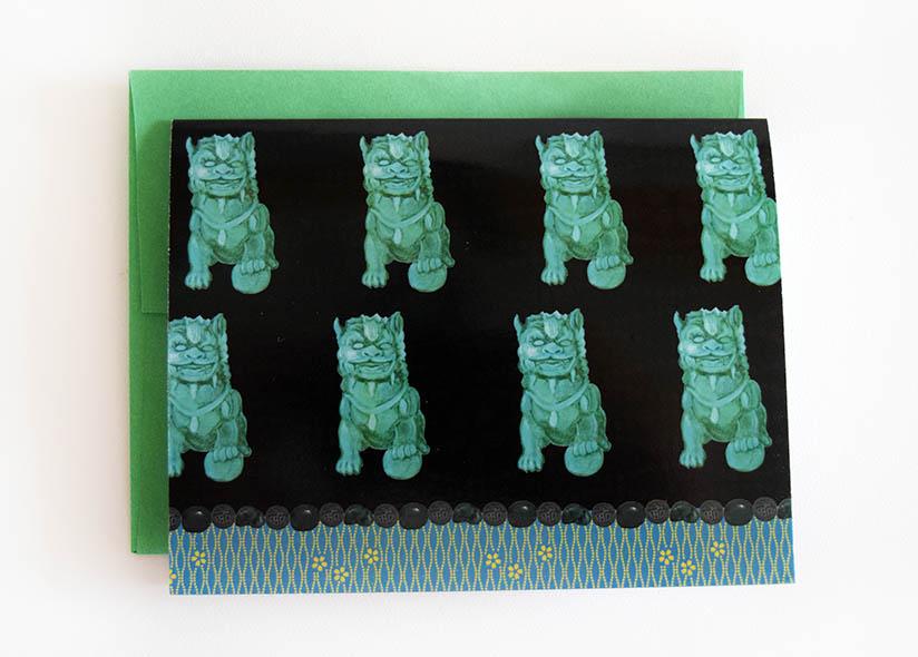 Turquoise-&_Black-Foo-Dog-Cards