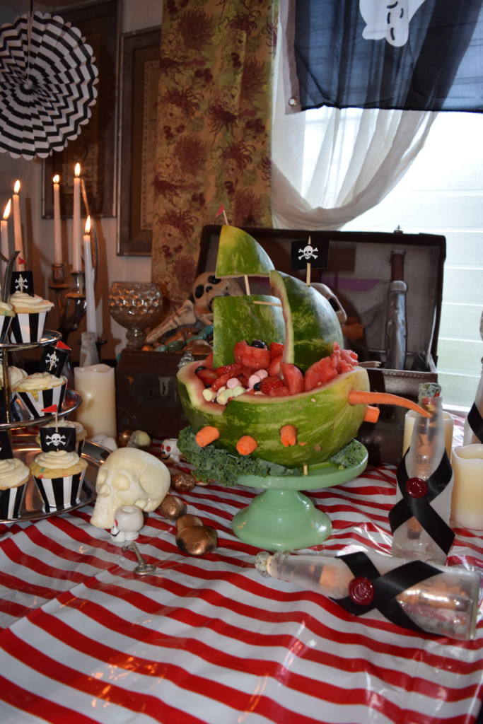 Pirate-Kids-Party-Murder-Among-the-Mateys-Hawaii-Watermelon-Fruit-Ship