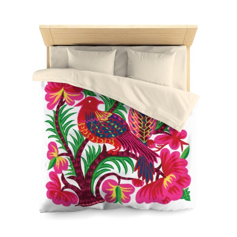 Pink-Pheasant-Boho-Bedding