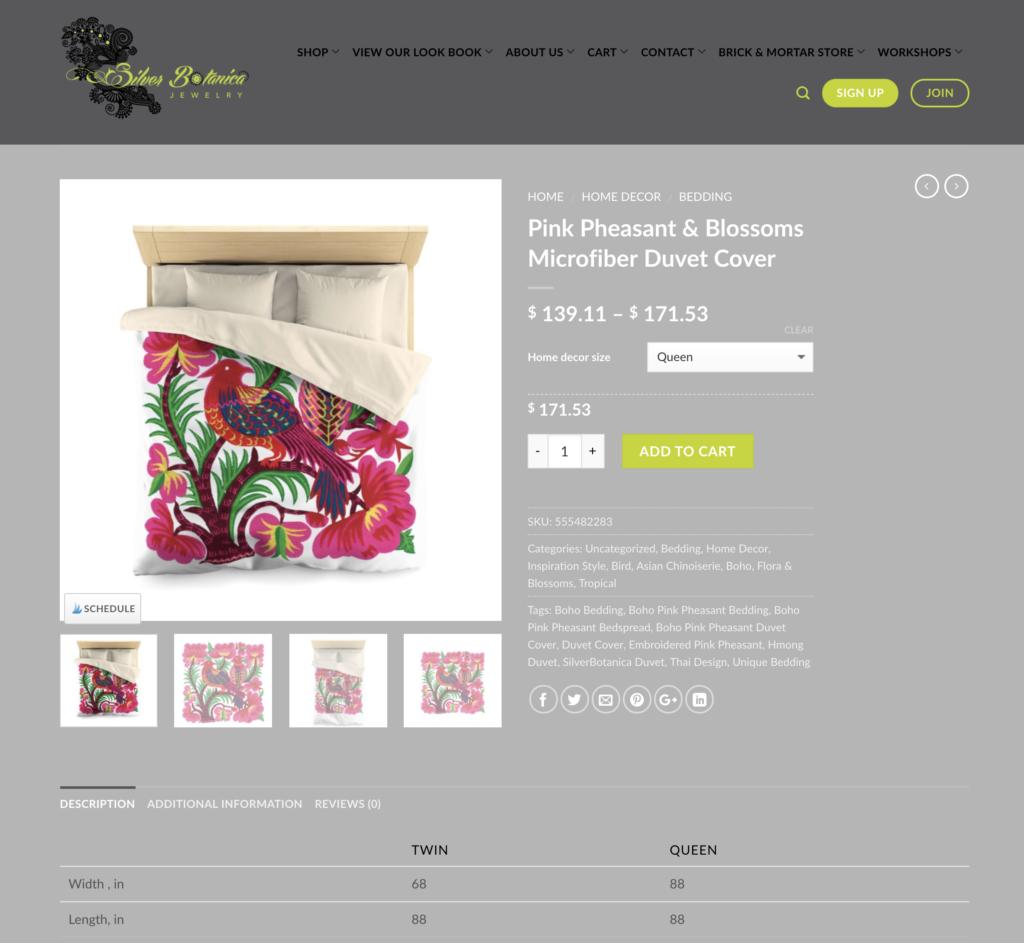 Pink-Pheasant-Boho-Bedding1